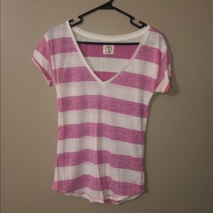 AE PINK STRIPED TOP